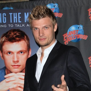 Nick Carter, Backstreet Boys in Nick Carter Hand Print Ceremony Promoting 'Facing The Music and Living to Talk About It
