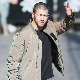 Nick Jonas Seen Arriving for Jimmy Kimmel Live!