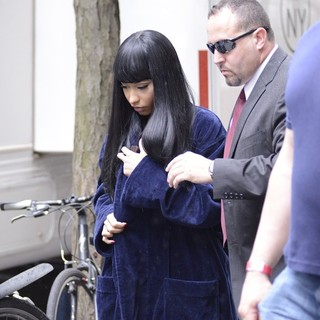 Nicki Minaj Seen on The Set of The Other Woman
