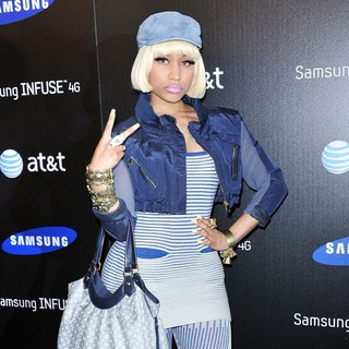 Nicki Minaj in Samsung Infuse 4G for AT and T Launch Event