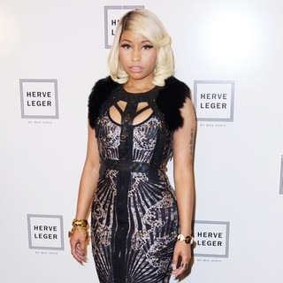 Nicki Minaj in The Herve Leger by Max Azria Spring 2014 Runway Show Collection