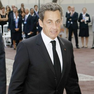 Nicolas Sarkozy in Religious Ceremony of The Royal Wedding of Prince Albert II of Monaco to Charlene Wittstock