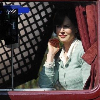 Nicole Kidman in Nicole Kidman Filming A Train Scene from The Movie The Railway Man