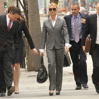 Nicollette Sheridan Arriving at The Civil Courthouse