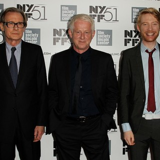 Bill Nighy, Richard Curtis, Domhnall Gleeson in 51st New York Film Festival - About Time - Premiere - Red Carpet
