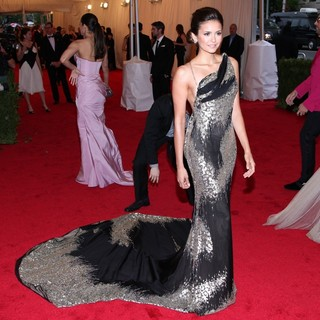 Nina Dobrev in Schiaparelli and Prada Impossible Conversations Costume Institute Gala