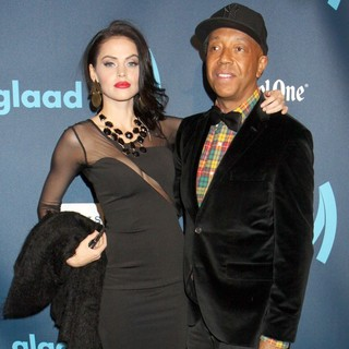 Hana Nitsche, Russell Simmons in 24th Annual GLAAD Media Awards - Arrivals