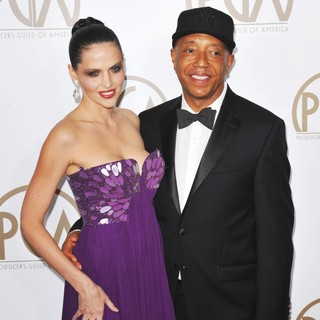 Hana Nitsche, Russell Simmons in 24th Annual Producers Guild Awards - Arrivals