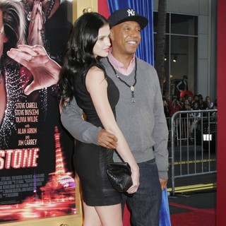 Hana Nitsche, Russell Simmons in Los Angeles Premiere of The Incredible Burt Wonderstone