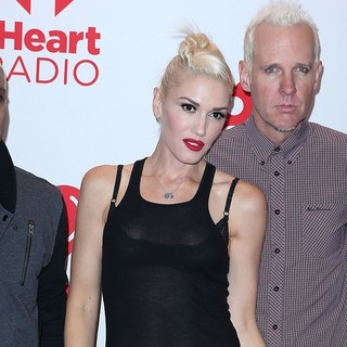 Gwen Stefani, Tom Dumont, No Doubt in 2012 iHeartRadio Music Festival - Day 1 - Arrivals
