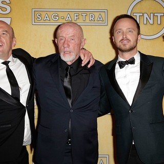 Dean Norris, Jonathan Banks, Aaron Paul in The 20th Annual Screen Actors Guild Awards - Press Room