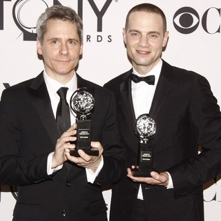 Bruce Norris, Jordan Roth in The 66th Annual Tony Awards - Press Room