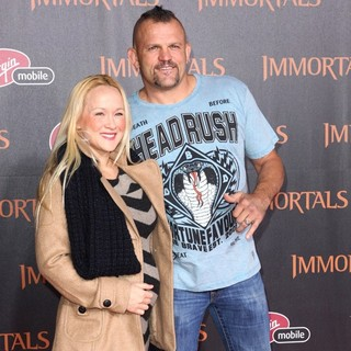 Chuck Liddell in Immortals 3D Los Angeles Premiere - northcott-liddell-premiere-immortals-01