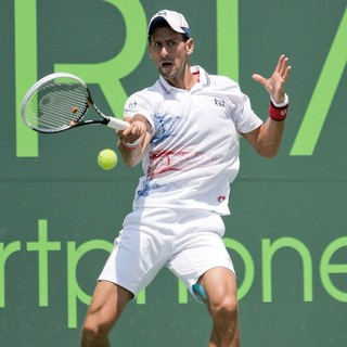 Novak Djokovic in The Men's Final on Day 14 of The Sony Ericsson Open