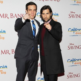 B.J. Novak, Jason Schwartzman in Saving Mr. Banks Los Angeles Premiere