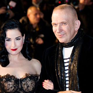 Dita Von Teese, Jean Paul Gaultier in NRJ Music Awards 2010