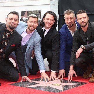 NSYNC, Chris Kirkpatrick, Lance Bass, JC Chasez, Joey Fatone, Justin Timberlake in NSYNC Honored with Star on The Hollywood Walk of Fame
