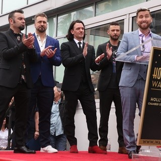 NSYNC, Chris Kirkpatrick, Joey Fatone, JC Chasez, Justin Timberlake, Lance Bass in NSYNC Honored with Star on The Hollywood Walk of Fame