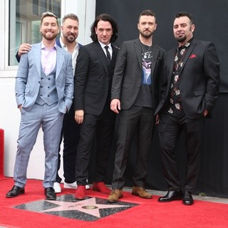 NSYNC, Lance Bass, Joey Fatone, JC Chasez, Justin Timberlake, Chris Kirkpatrick in NSYNC Honored with Star on The Hollywood Walk of Fame