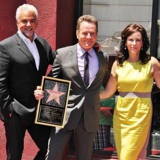 John O'Hurley, Bryan Cranston, Jane Kaczmarek in Bryan Cranston Honored with Star on The Hollywood Walk of Fame