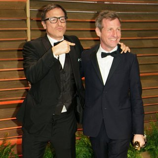 David O. Russell, Spike Jonze in 2014 Vanity Fair Oscar Party