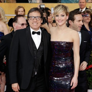 David O. Russell, Jennifer Lawrence in The 20th Annual Screen Actors Guild Awards - Arrivals
