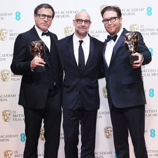 David O. Russell, Stanley Tucci, Eric Warren Singer in EE British Academy Film Awards 2014 - Press Room