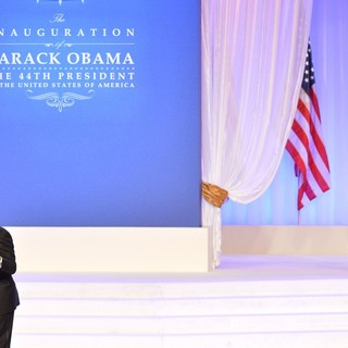 Michelle Obama, Barack Obama, Jennifer Hudson in The Inaugural Ball