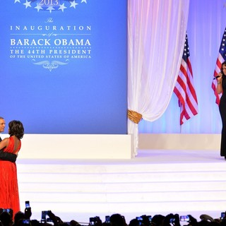 Barack Obama, Michelle Obama, Jennifer Hudson in The Inaugural Ball