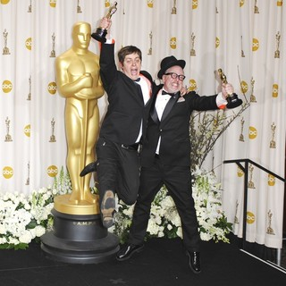 Brandon Oldenburg, William Joyce in 84th Annual Academy Awards - Press Room