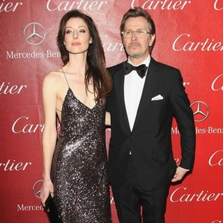Alexandra Edenborough, Gary Oldman in 25th Anniversary Palm Springs International Film Festival - Arrivals