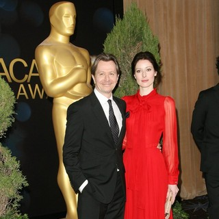 Gary Oldman, Alexandra Edenborough in 84th Annual Academy Awards Nominees Luncheon