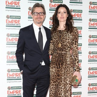 Gary Oldman, Alexandra Edenborough in The Empire Film Awards 2012 - Arrivals
