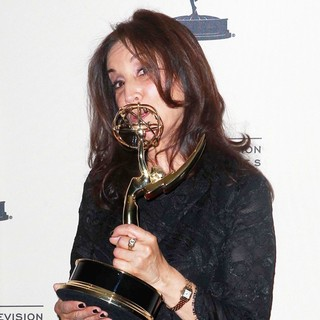 Olivia Harrison in 2012 Creative Arts Emmy Awards - Press Room