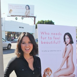 Olivia Munn in Olivia Munn Unveils Her Latest Nude Ad for PETA