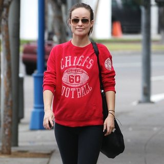 Olivia Wilde in Olivia Wilde Leaving The Gym