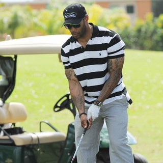 Omari Hardwick in Omari Hardwick Participates in The Eighth Annual Jason Taylor Celebrity Golf Classic