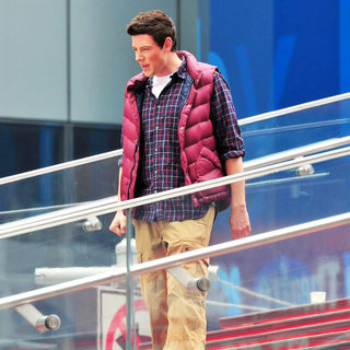 Cory Monteith in On The Set of 'Glee'