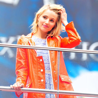 Dianna Agron in On The Set of 'Glee'