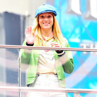 Heather Morris in On The Set of 'Glee'