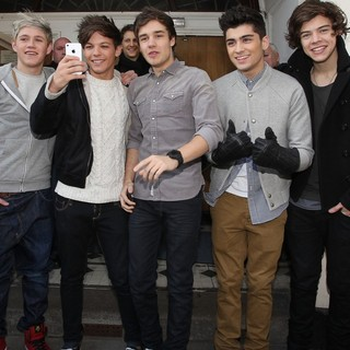 One Direction - Celebrities at The BBC Radio 1 Studios for Chris Moyles' Birthday Show
