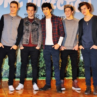 One Direction in One Direction Attend A Press Conference