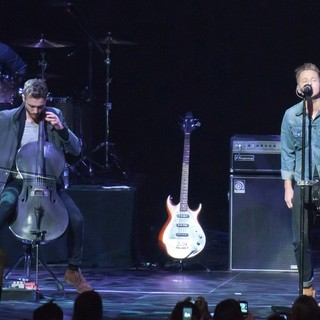 Eddie Fisher, Brent Kutzle, Ryan Tedder, OneRepublic in KIIS FM's Jingle Ball 2012 - Show