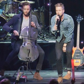 Brent Kutzle, Ryan Tedder, OneRepublic in KIIS FM's Jingle Ball 2012 - Show