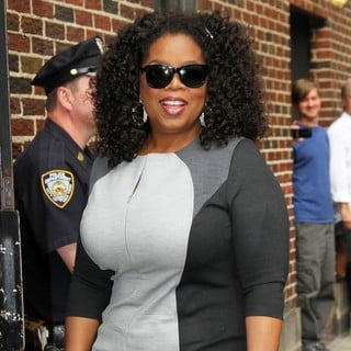 Oprah Winfrey in Celebrities for The Late Show with David Letterman