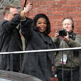 Oprah Winfrey Arriving at Harvard University for The Launch of The Born This Way Foundation