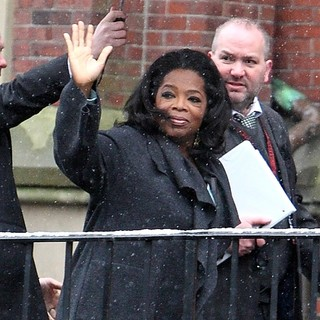 Oprah Winfrey Arriving at Harvard University for The Launch of The Born This Way Foundation - oprah-winfrey-launch-born-this-way-foundation-02
