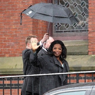 Oprah Winfrey in Oprah Winfrey Arriving at Harvard University for The Launch of The Born This Way Foundation