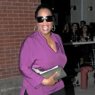 Oprah Winfrey in Oprah Winfrey Leaving ABC Kitchen Restaurant