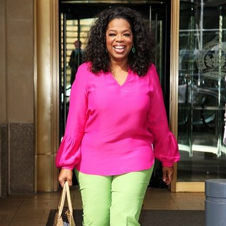 Oprah Winfrey in Oprah Winfrey Leaving The Hearst Tower